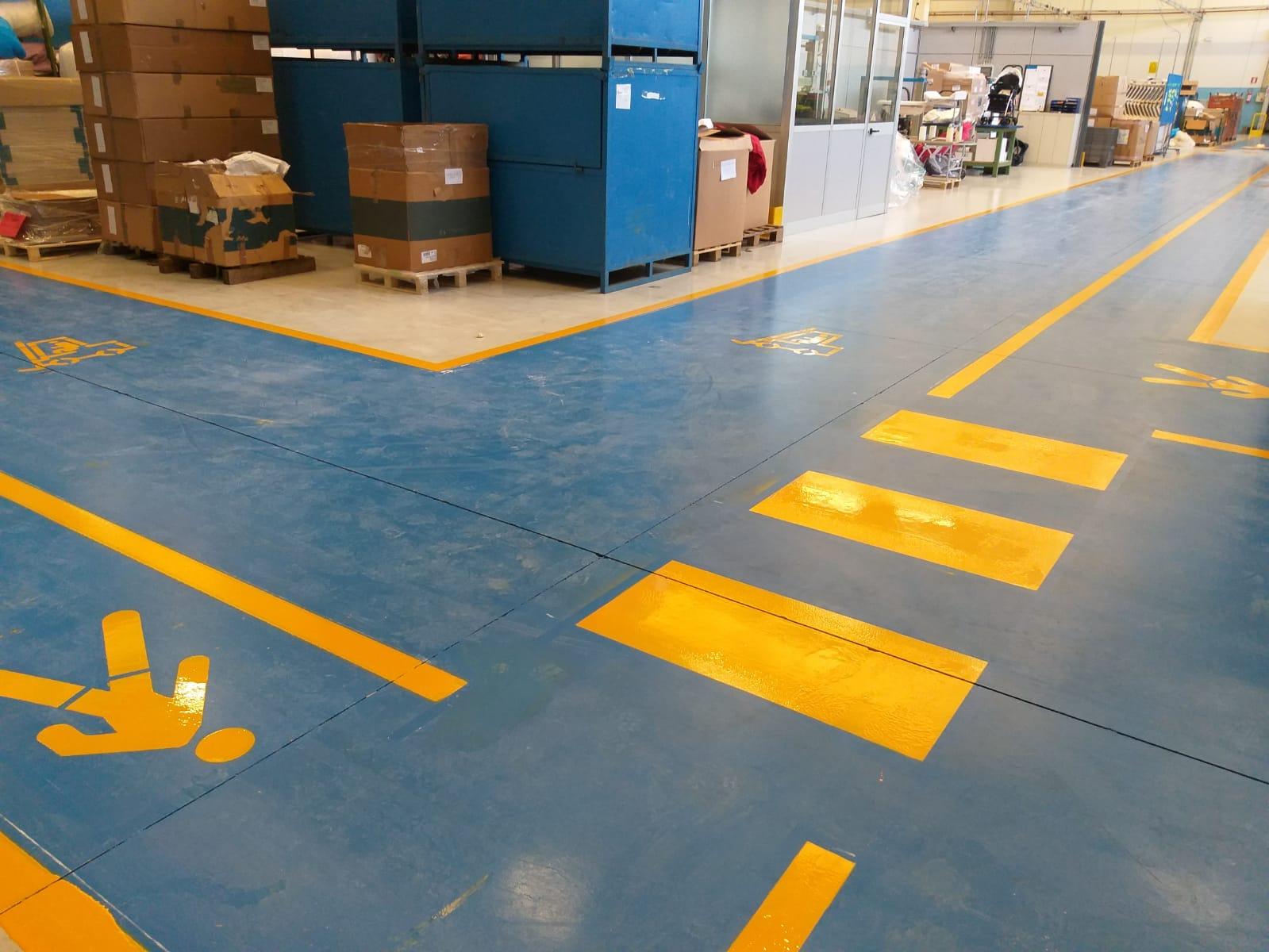 segnaletica orizzontale pavimentazioni industriali